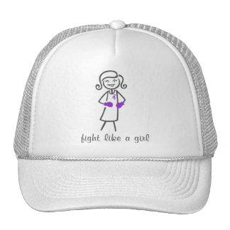 Leiomyosarcoma Fight Like A Girl (Retro) Hats