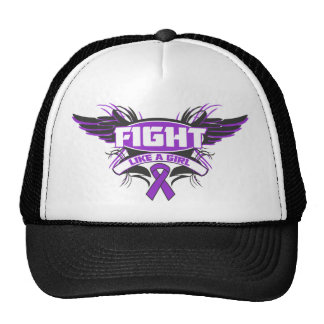 Leiomyosarcoma Fight Like a Girl Wings.png Mesh Hats