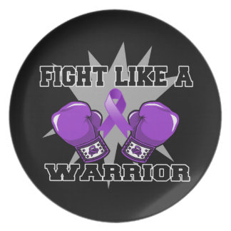 Leiomyosarcoma Fight Like a Warrior Dinner Plates