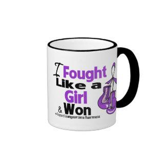 Leiomyosarcoma I Fought Like a Girl and Won Ringer Coffee Mug