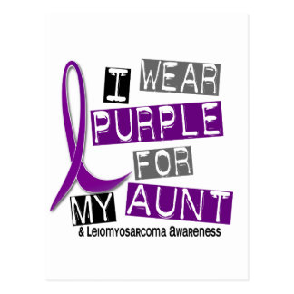 LEIOMYOSARCOMA I Wear Purple For My Aunt 37 Postcard