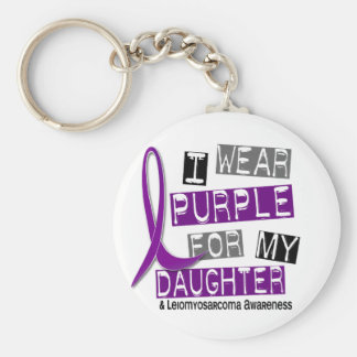 LEIOMYOSARCOMA I Wear Purple For My Daughter 37 Basic Round Button Key Ring