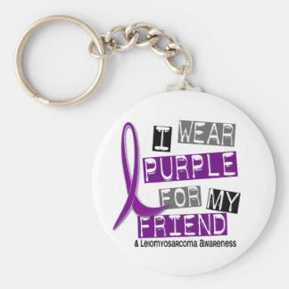 LEIOMYOSARCOMA I Wear Purple For My Friend 37 Basic Round Button Key Ring