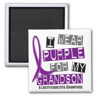 LEIOMYOSARCOMA I Wear Purple For My Grandson 37 Square Magnet
