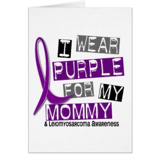 LEIOMYOSARCOMA I Wear Purple For My Mommy 37 Greeting Card