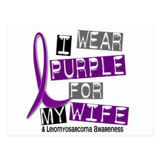 LEIOMYOSARCOMA I Wear Purple For My Wife 37 Postcard