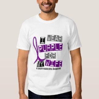 LEIOMYOSARCOMA I Wear Purple For My Wife 37 Tee Shirt