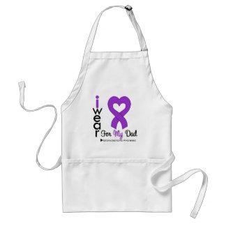 Leiomyosarcoma I Wear Purple Ribbon For My Dad Standard Apron