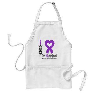 Leiomyosarcoma I Wear Purple Ribbon GIRLFRIEND Standard Apron