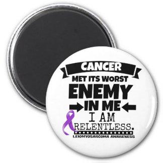 Leiomyosarcoma Met Its Worst Enemy in Me 6 Cm Round Magnet