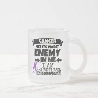 Leiomyosarcoma Met Its Worst Enemy in Me Frosted Glass Mug