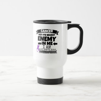 Leiomyosarcoma Met Its Worst Enemy in Me Stainless Steel Travel Mug