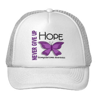 Leiomyosarcoma Never Give Up Hope Butterfly 4.1 Trucker Hat