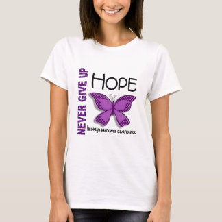 Leiomyosarcoma Never Give Up Hope Butterfly 4.1 T-Shirt