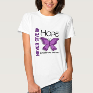 Leiomyosarcoma Never Give Up Hope Butterfly 4.1 T Shirts