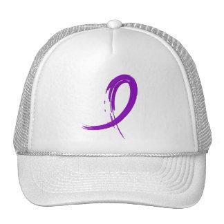 Leiomyosarcoma Purple Ribbon A4 Mesh Hats