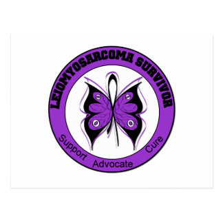Leiomyosarcoma Survivor Butterfly Postcard