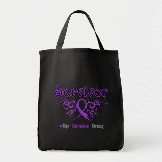 Leiomyosarcoma Survivor Tribal Ribbon Bag