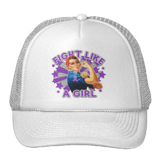 Leiomyosarcoma Vintage Rosie Fight Like A Girl Mesh Hat