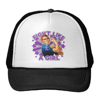 Leiomyosarcoma Vintage Rosie Fight Like A Girl Mesh Hat