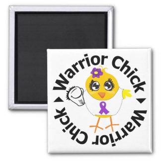 Leiomyosarcoma Warrior Chick Fridge Magnets