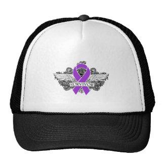 Leiomyosarcoma Winged SURVIVOR Ribbon Hat