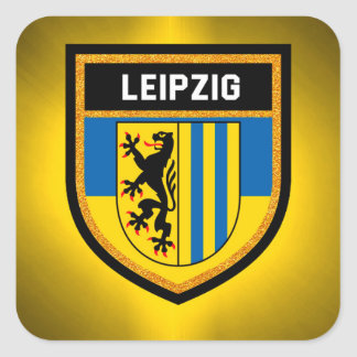 Leipzig Flag Square Sticker