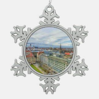 Leipzig, Germany Snowflake Pewter Christmas Ornament