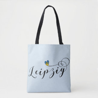 Leipzig Heart Grocery Bag, Germany Tote Bag