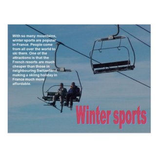 Leisure activities, Winter Sports Postcard
