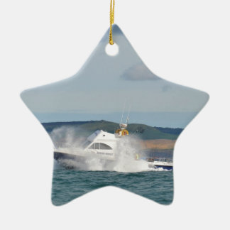 Leisure Fishing Boat Christmas Ornament