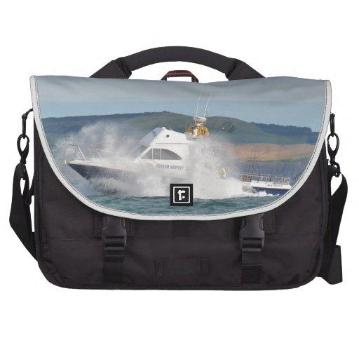 Leisure Fishing Boat Laptop Messenger Bag