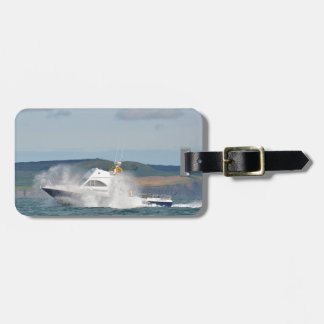 Leisure Fishing Boat Luggage Tag
