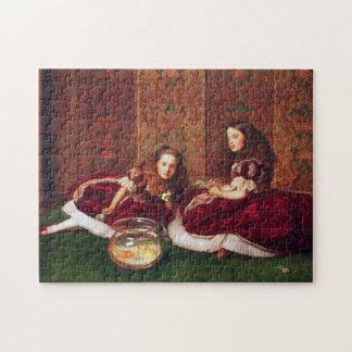 Leisure Hours - John Everett Millais Jigsaw Puzzle