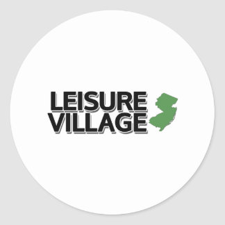 Leisure Village, New Jersey Round Stickers
