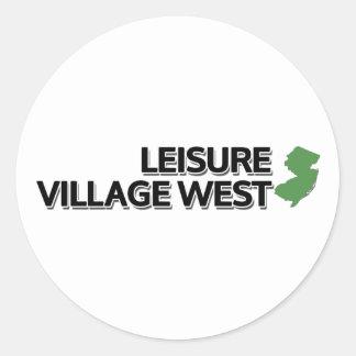 Leisure Village West, New Jersey Round Sticker
