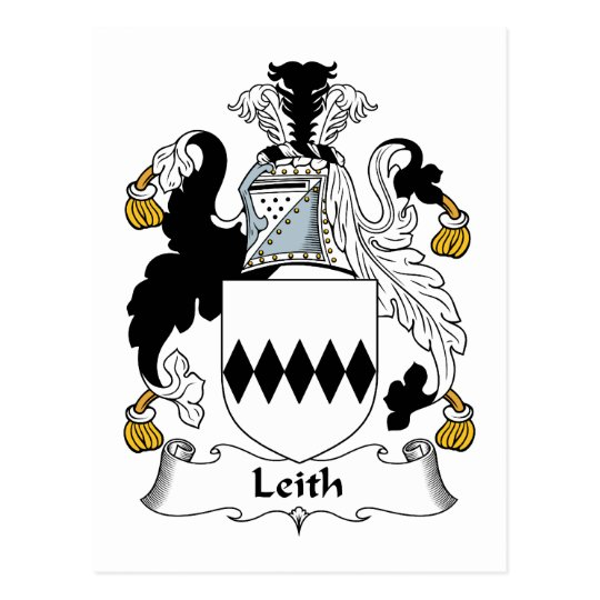 Leith Family Crest Postcard