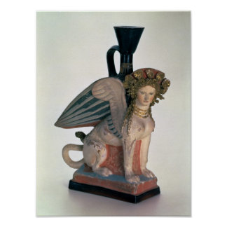 Lekythos in the form of a Sphinx Poster