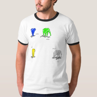 L'éléphant Print Vibrant T Shirt