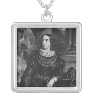 Lelia, illustration from 'Lelia' by George Sand Silver Plated Necklace