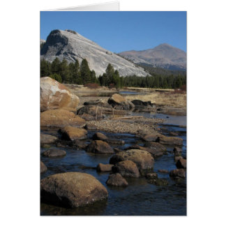 lembert dome and rocks greeting card