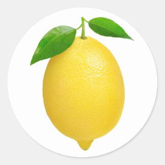 Lemon #2 round sticker