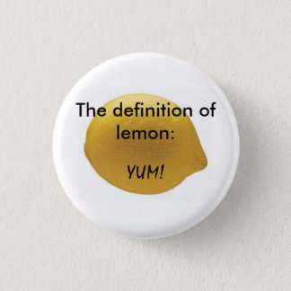 Lemon 3 Cm Round Badge