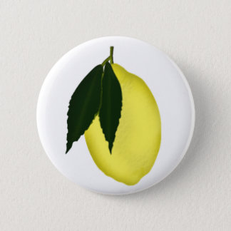 Lemon 6 Cm Round Badge
