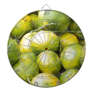lemon and citrus dartboard