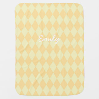 Lemon and Cream Personalized Baby Blanket