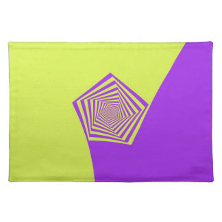 Lemon and Lilac Spiral Placemats