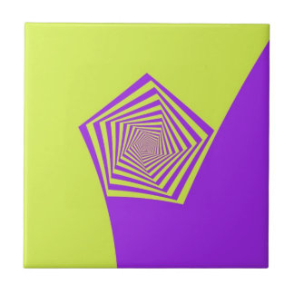 Lemon and Lilac Spiral  tile