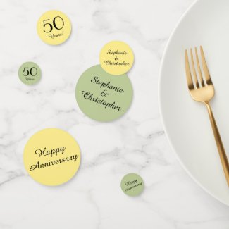 Lemon and Lime 50th Anniversary Table Decoration Confetti