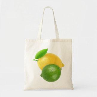 Lemon and lime budget tote bag